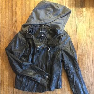 Rock & Republic Faux Leather Moto Jacket